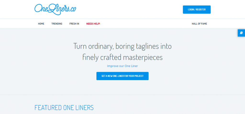 Crowdsource a better one liner   OneLiners.co