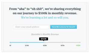 Good Sample for Lead Gen from a SaaS Startup