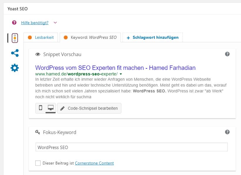 WordPress SEO mit Yoast Plugin