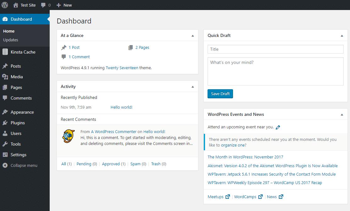 Das WordPress Dashboard