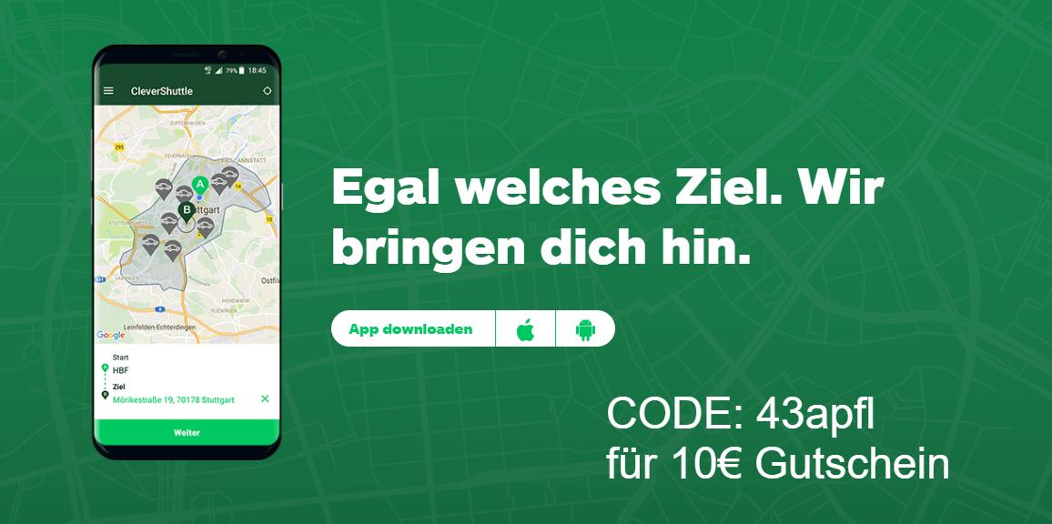 CleverShuttle Gutschein Code