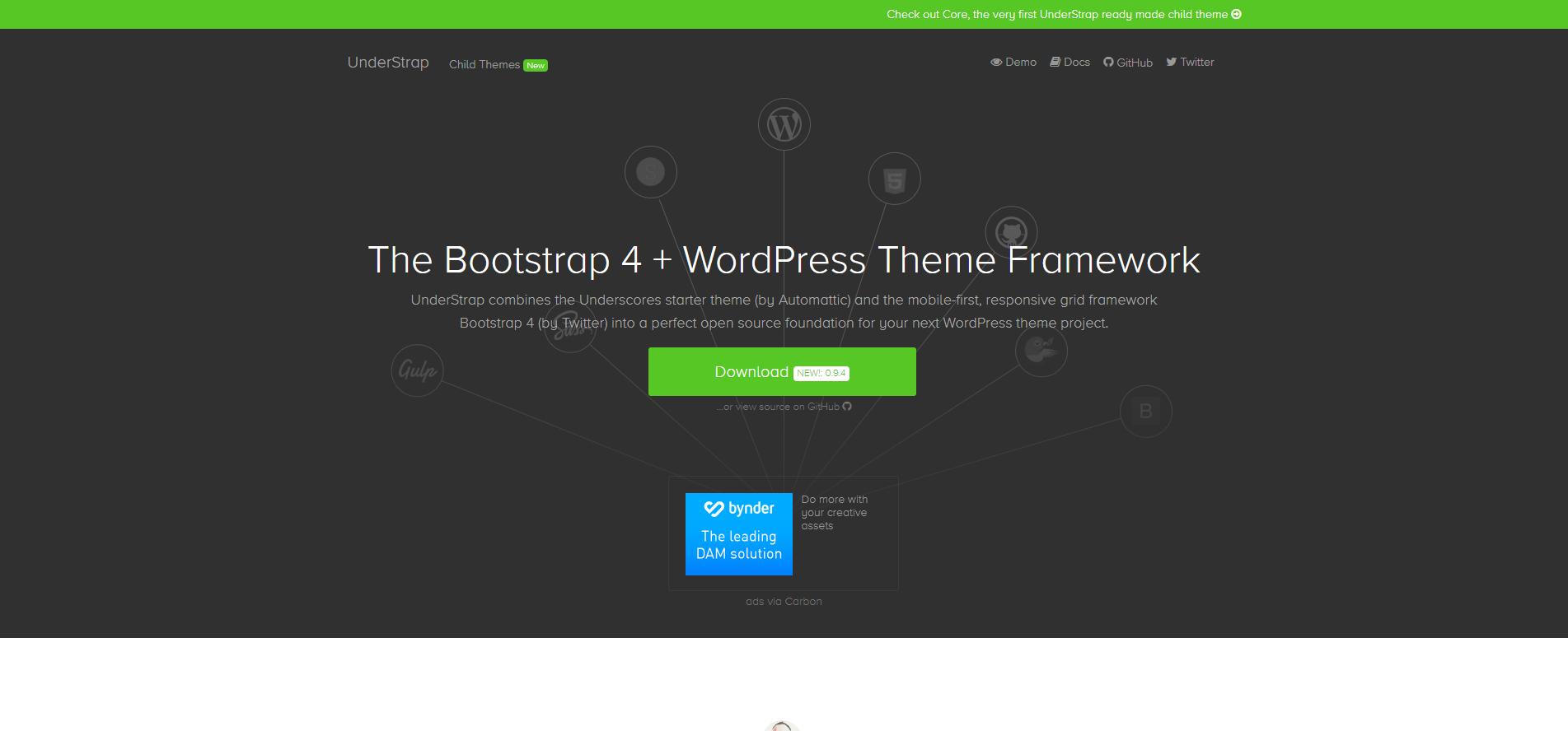 Bootstrap WordPress Theme Framework - Starter Templates 2