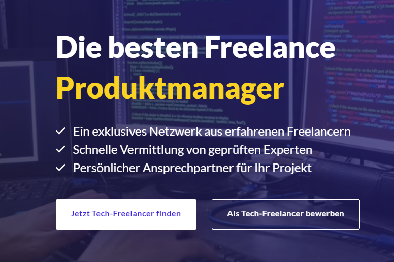 Freelancer Expertlead Screenshot Website