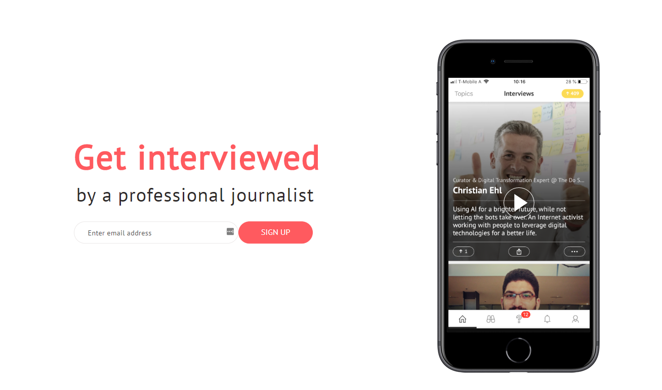 Screen lama app get interview journalist