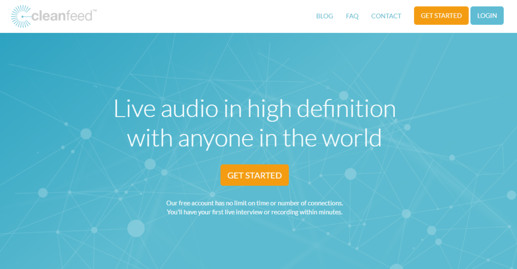 Screenshot Cleanfeed Audio aufnehmen im Browser