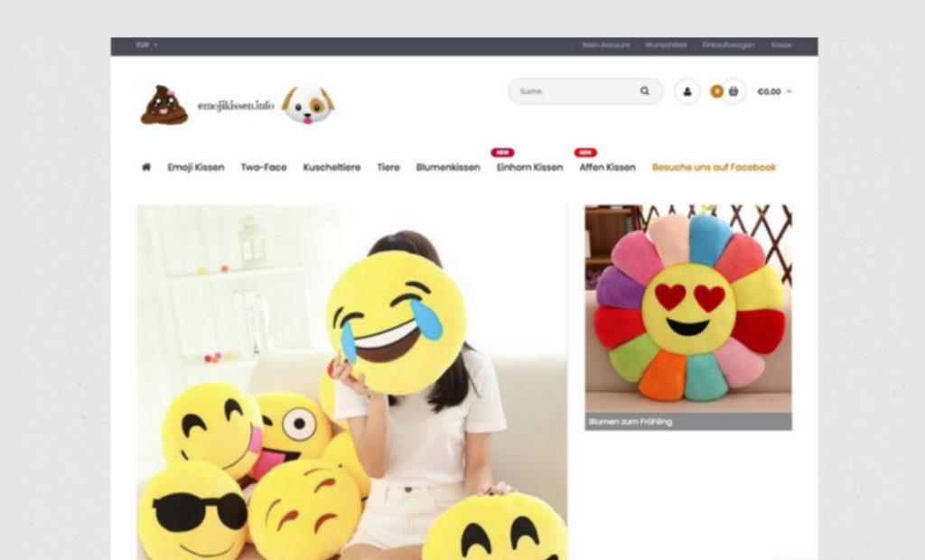 hamed.de Referenz - Emojikissen Shop