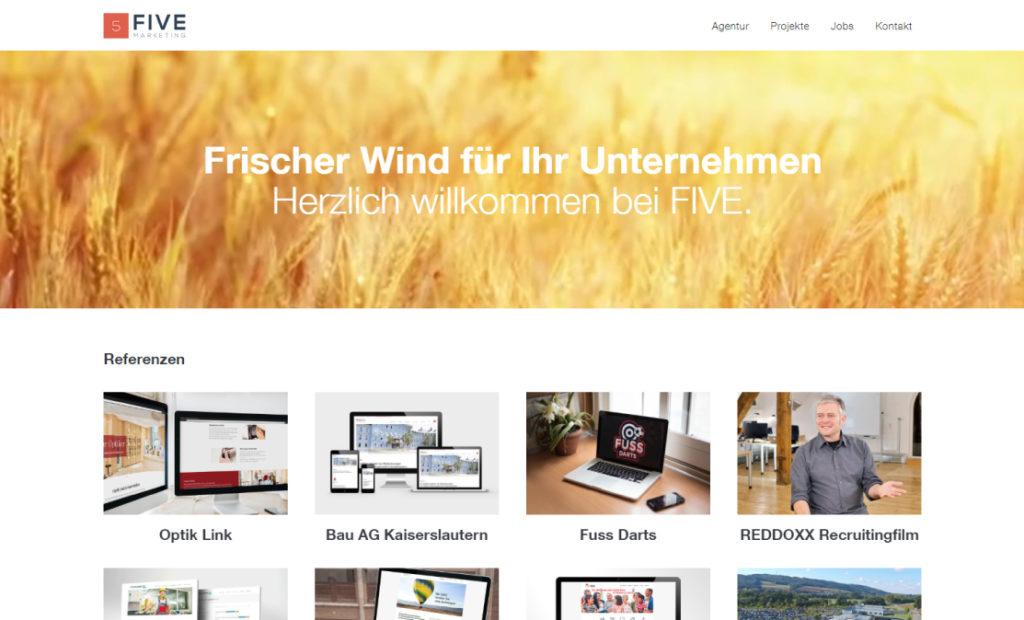 hamed.de Referenz - FIVE Marketing