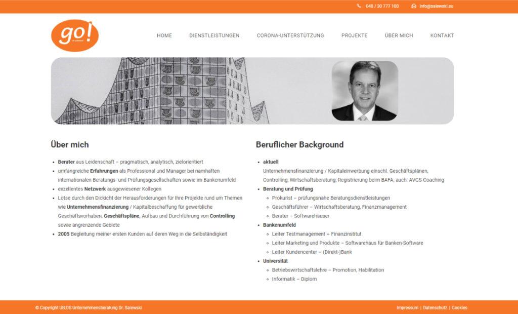 hamed.de Referenz - Unternehmensberatung Dr. Salewski